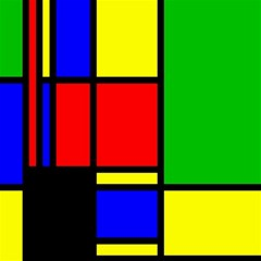 Mondrian Canvas 12  X 12  (unframed) by Siebenhuehner