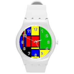 Mondrian Plastic Sport Watch (medium) by Siebenhuehner