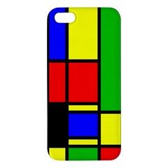 Mondrian Apple Iphone 5 Premium Hardshell Case by Siebenhuehner