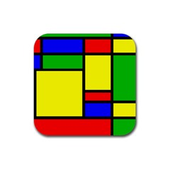 Mondrian Drink Coaster (square) by Siebenhuehner