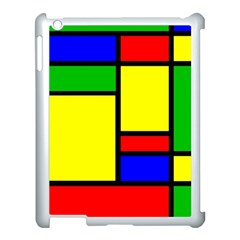 Mondrian Apple Ipad 3/4 Case (white) by Siebenhuehner