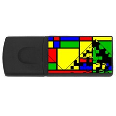 Moderne 4gb Usb Flash Drive (rectangle) by Siebenhuehner