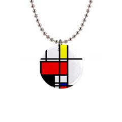 Mondrian Button Necklace by Siebenhuehner