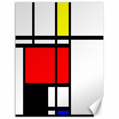 Mondrian Canvas 18  X 24  (unframed) by Siebenhuehner