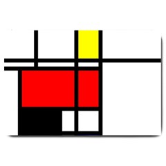 Mondrian Large Door Mat by Siebenhuehner
