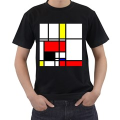 Mondrian Men s T-shirt (black) by Siebenhuehner