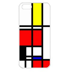 Mondrian Apple Iphone 5 Seamless Case (white) by Siebenhuehner