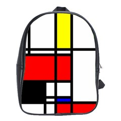 Mondrian School Bag (xl) by Siebenhuehner