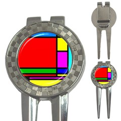 Mondrian Golf Pitchfork & Ball Marker by Siebenhuehner