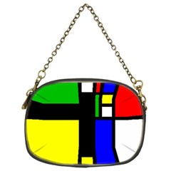 Abstrakt Chain Purse (two Sided)