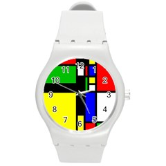 Abstrakt Plastic Sport Watch (medium) by Siebenhuehner