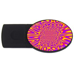 Psycedelic Warp 4gb Usb Flash Drive (oval) by SaraThePixelPixie