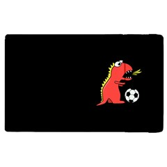Black Cartoon Dinosaur Soccer Apple Ipad 2 Flip Case