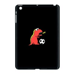 Black Cartoon Dinosaur Soccer Apple Ipad Mini Case (black) by CreaturesStore