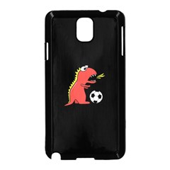 Black Cartoon Dinosaur Soccer Samsung Galaxy Note 3 Neo Hardshell Case (black) by CreaturesStore