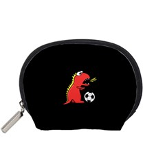 Black Cartoon Dinosaur Soccer Accessory Pouch (small) by CreaturesStore