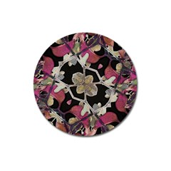 Floral Arabesque Decorative Artwork Magnet 3  (round) by dflcprints