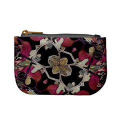 Floral Arabesque Decorative Artwork Coin Change Purse by dflcprints