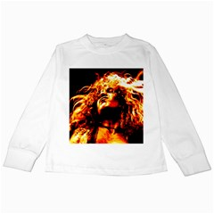 Golden God Kids Long Sleeve T Shirt by SaraThePixelPixie