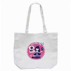 Sushi Records Tote Bag (white) by scribblekid