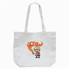 Squish Tote Bag (white) by scribblekid