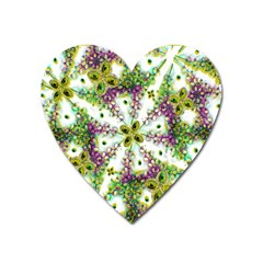 Neo Noveau Style Background Pattern Magnet (heart) by dflcprints