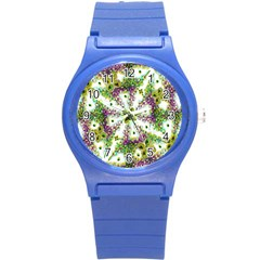 Neo Noveau Style Background Pattern Plastic Sport Watch (small) by dflcprints