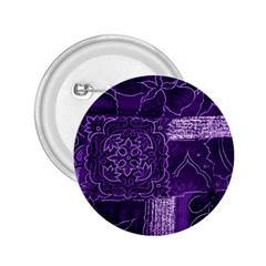 Pretty Purple Patchwork 2 25  Button by FunWithFibro