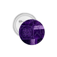 Pretty Purple Patchwork 1 75  Button by FunWithFibro