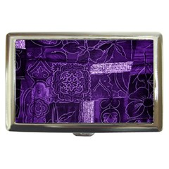 Pretty Purple Patchwork Cigarette Money Case by FunWithFibro