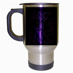Pretty Purple Patchwork Travel Mug (silver Gray) by FunWithFibro