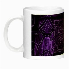 Pretty Purple Patchwork Glow In The Dark Mug by FunWithFibro