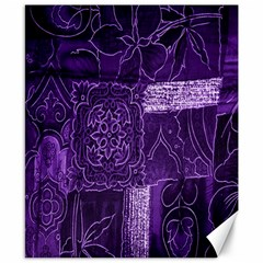 Pretty Purple Patchwork Canvas 8  X 10  (unframed) by FunWithFibro