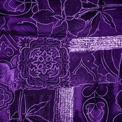 Pretty Purple Patchwork Canvas 12  X 12  (unframed) by FunWithFibro