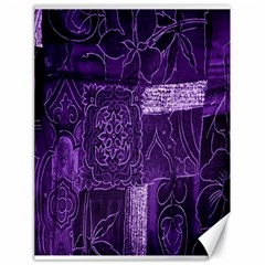 Pretty Purple Patchwork Canvas 18  X 24  (unframed) by FunWithFibro