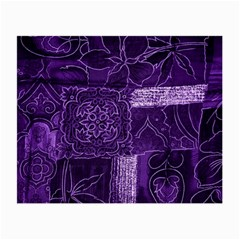 Pretty Purple Patchwork Glasses Cloth (small, Two Sided) by FunWithFibro