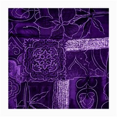 Pretty Purple Patchwork Glasses Cloth (medium, Two Sided) by FunWithFibro