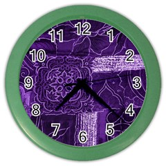 Pretty Purple Patchwork Wall Clock (color) by FunWithFibro