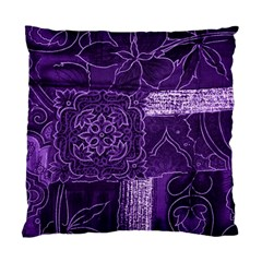 Pretty Purple Patchwork Cushion Case (single Sided)  by FunWithFibro