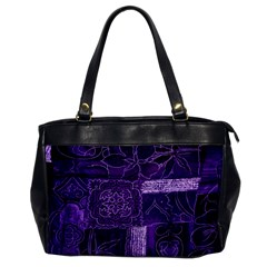 Pretty Purple Patchwork Oversize Office Handbag (one Side) by FunWithFibro