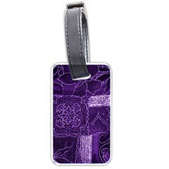 Pretty Purple Patchwork Luggage Tag (two Sides) by FunWithFibro