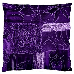 Pretty Purple Patchwork Large Cushion Case (single Sided)  by FunWithFibro
