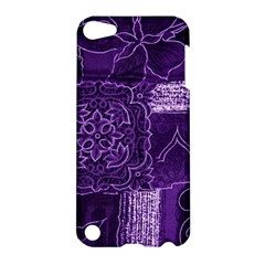 Pretty Purple Patchwork Apple Ipod Touch 5 Hardshell Case by FunWithFibro