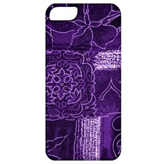 Pretty Purple Patchwork Apple Iphone 5 Classic Hardshell Case by FunWithFibro