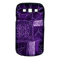 Pretty Purple Patchwork Samsung Galaxy S Iii Classic Hardshell Case (pc+silicone) by FunWithFibro