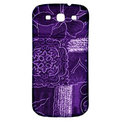 Pretty Purple Patchwork Samsung Galaxy S3 S Iii Classic Hardshell Back Case by FunWithFibro