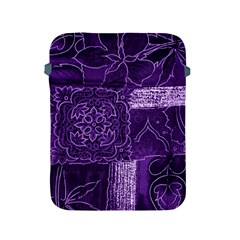 Pretty Purple Patchwork Apple Ipad Protective Sleeve by FunWithFibro