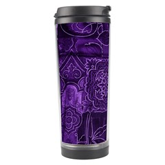 Pretty Purple Patchwork Travel Tumbler by FunWithFibro