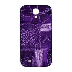 Pretty Purple Patchwork Samsung Galaxy S4 I9500/i9505  Hardshell Back Case by FunWithFibro
