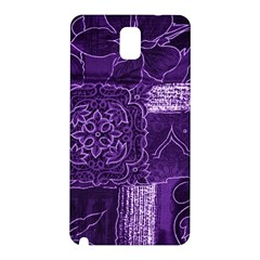 Pretty Purple Patchwork Samsung Galaxy Note 3 N9005 Hardshell Back Case by FunWithFibro